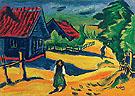Kurische Hauser 1911 - Max Pechstein