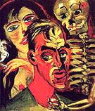 Self Portrait with Death 1920 - Max Pechstein