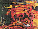 Three Nudes in Landscape - Max Pechstein