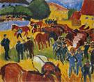 Horse Fair - Max Pechstein