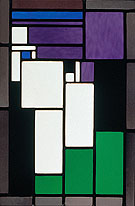 Stained Gglass Composition Female - Theo van Doesburg