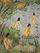 Landscape with Bathers 1915 - Otto Mueller