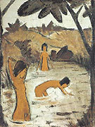 Three Bathers in a Lake c1912 - Otto Mueller