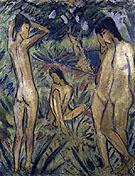 Bathing Badende - Otto Mueller