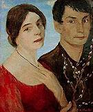 Self Portrait with Maschka - Otto Mueller