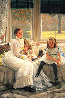 Mrs Chapple Gill and Two Her Children - James Tissot