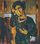 Woman with a Bag - Karl Schmidt Rottluff