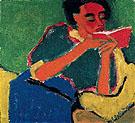 Die Lesende 1911 - Karl Schmidt Rottluff
