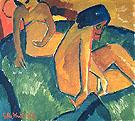 Two Woman 1912 - Karl Schmidt Rottluff