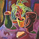 Stilleben mit Holzplastik 1949 - Karl Schmidt Rottluff