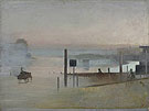 The Quiet River The Thames at Chiswick c1943 - Victor Pasmore