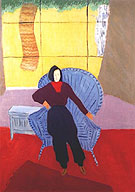 Girl In Wicker Chair 1944 - Milton Avery