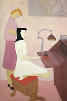 Two Figures at Desk 1944 - Milton Avery