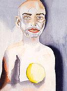 Self Portrait with Lemon Heart 2008 - Francesco Clemente