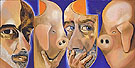 Self Portrait with and Without The Mask 2005 - Francesco Clemente