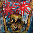 Spider King Amalfi Watercolor 1992 - Francesco Clemente