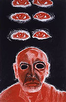 Self Portrait in White Red and Black VI 2008 - Francesco Clemente