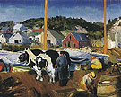 Ox Team Matinicus Island Maine 1916 - George Bellows