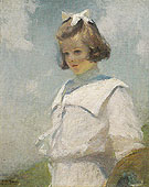 Portrait of Elisabeth c1901 - Frank Weston Benson