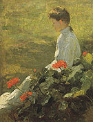 Woman with Geraniums c1910 - Frank Weston Benson