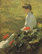 Woman with Geraniums c1910 - Frank Weston Benson
