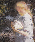 Eleanor Holding a Shell - Frank Weston Benson