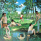 Bathers 1869 - Frederic Bazille