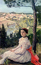 Village View - Frederic Bazille