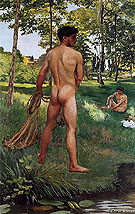 Fisherman with a Net - Frederic Bazille
