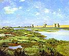 Landscape of Aigues Mortes - Frederic Bazille