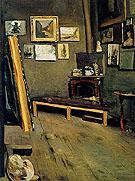 Studio of The Rue Visconti 1867 - Frederic Bazille