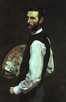 Self Portrait with Palette 1865 - Frederic Bazille