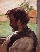 Self Portrait at Saint Sauveur 1867 - Frederic Bazille