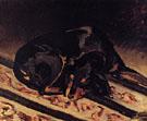 The Dog Rita Asleep 1864 - Frederic Bazille