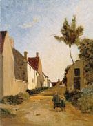 Village Street 1865 - Frederic Bazille
