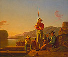 The Wood Boat 1850 - George Caleb Bingham