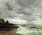 Beaching The Boats at Grandcamps Normandy - Frank Myers Boggs