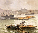 On The Thames 1883 - Frank Myers Boggs