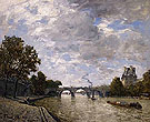 The River Seine and Le Louvre - Frank Myers Boggs