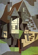 Houses in Beaulieu 1918 - Juan Gris