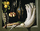 Still Life with Game Fowl Vegetables and Fruit 1602 - Juan Sanchez Cotan