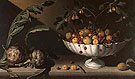 Still Life of Fruit in a Bowl with Two Artichokes - Juan Sanchez Cotan