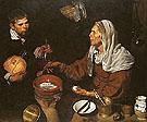 Old Woman Frying Eggs - Juan Sanchez Cotan