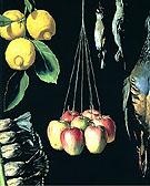 Still Life with Dead Birds Fruit and Vegetables 1602 - Juan Sanchez Cotan
