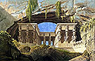 The Portico at The Palace of The Queen of The Night 1815 - Karl Friedrich Schinkel