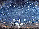 Set Design for The Magic Flute Starry Sky for The Queen of The of The Night 1815 - Karl Friedrich Schinkel