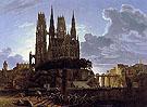 Medieval Town by Water c1813 - Karl Friedrich Schinkel