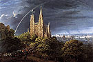 Medieval City on a River 1815 - Karl Friedrich Schinkel