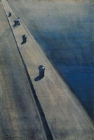 Wharf with Fisherman on a Mooring Post - Leon Spilliaert