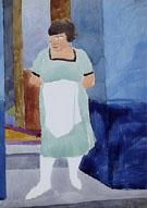 Femme au Tablier Blanc 1921 - Leon Spilliaert
